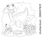 Similar Images Stock Photos Vectors Of Coloring Page Young Emperor Penguins Polar