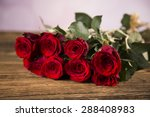 Stock photo day of love valentine s day roses and a teddy bear 288408983