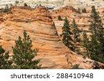 zion national park. orange red...   Shutterstock . vector #288410948