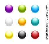 Set Of Colored Balls. Isolated...