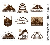 mountains icons | Shutterstock .eps vector #288420020