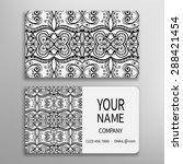 business card  decorative... | Shutterstock .eps vector #288421454