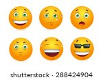 set of emoticons.  | Shutterstock . vector #288424904