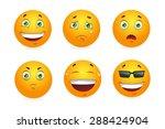 set of emoticons.  | Shutterstock . vector #288424904