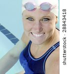 Athletic Swimmer - stock photo