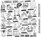 hand drawn doodle icons for blog | Shutterstock .eps vector #288435359