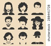 vector set of different male... | Shutterstock .eps vector #288441728