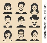 vector set of different male... | Shutterstock .eps vector #288441734