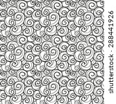 hand drawn swirls seamless... | Shutterstock . vector #288441926