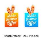 special summer offer stickers   Shutterstock .eps vector #288446528