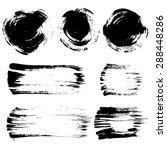 brush stroke elements set   Shutterstock . vector #288448286