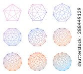 collection of geometric colored ... | Shutterstock . vector #288449129