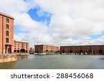 the albert dock.  a view of the