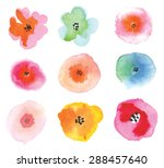 Set Of Colorful Flowers....