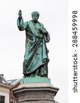 Monument In Haarlem  Netherlands