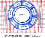 flatware on the table. raster... | Shutterstock . vector #288462110