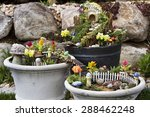 Fairy Garden In A Flower Pot...