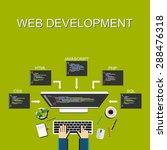 web development illustration.... | Shutterstock .eps vector #288476318