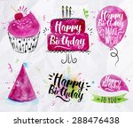 symbols of birthday element... | Shutterstock .eps vector #288476438