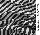 Crumpled Striped Textile...