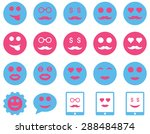 smile and emotion icons. vector ... | Shutterstock .eps vector #288484874