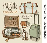 vector illustration set with... | Shutterstock .eps vector #288498098