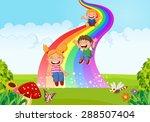 Cartoon Little Kids Playing...