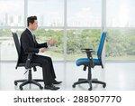 employer interviewing an empty... | Shutterstock . vector #288507770