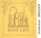 wine label with a picture of... | Shutterstock .eps vector #288522659