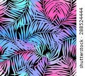 tropical palms seamless pattern ...   Shutterstock .eps vector #288524444