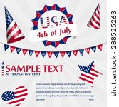 independence day usa card with... | Shutterstock .eps vector #288525263