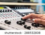 sound engineer right hand on... | Shutterstock . vector #288532838