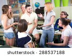 group of adult students talking ... | Shutterstock . vector #288537188