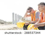 tired supervisor sitting with... | Shutterstock . vector #288537344