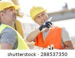 supervisor showing something to ... | Shutterstock . vector #288537350