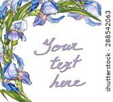 decorative card with watercolor ... | Shutterstock . vector #288542063