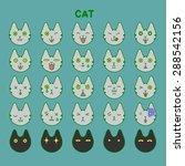 cat emotions set | Shutterstock .eps vector #288542156