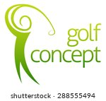 Golf Swing Abstract Concept Of...