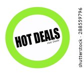 Hot Deals Black Stamp Text On...