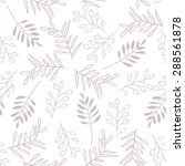 hand drawn floral vector... | Shutterstock .eps vector #288561878
