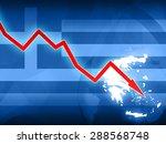 financial crisis in greece red... | Shutterstock . vector #288568748