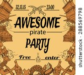 hand drawing style invitation... | Shutterstock .eps vector #288569798