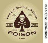 vintage retro poison seal   Shutterstock .eps vector #288572540