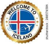 welcome to iceland | Shutterstock .eps vector #288576584