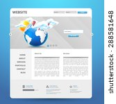 website design  with earth...