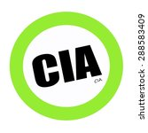 Cia Black Stamp Text On Green
