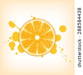 background with orange slice | Shutterstock . vector #288584438