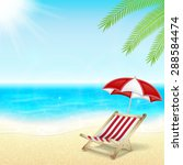 summer vacation background.... | Shutterstock . vector #288584474