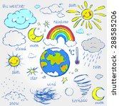 a set of images of weather... | Shutterstock .eps vector #288585206