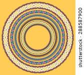 Set Of Yellow Round Geometrica...